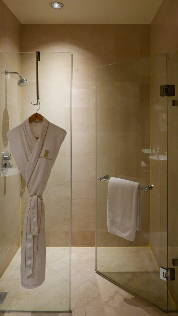 A large and high pressured shower