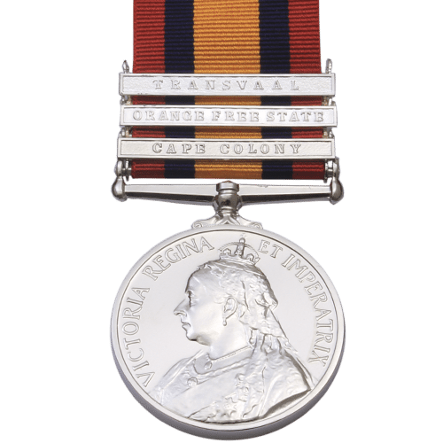 QSA QUEENS SOUTH AFRICA MEDAL RIBBON BAR CLASP BELMONT BOER WAR CAMPAIGN