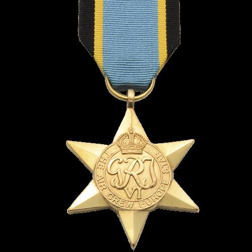 Air Crew Europe Star Weltkrieg 2 Medaille
