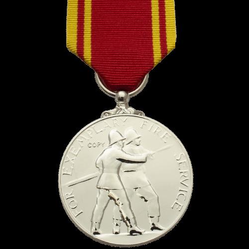 Fire Service LS&GC Medal ER2 Reverse