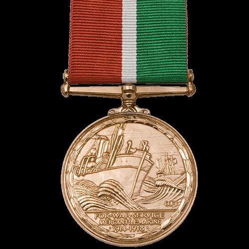 Mercantile Marine War Medal MMWM World War 1 Medal Reverse