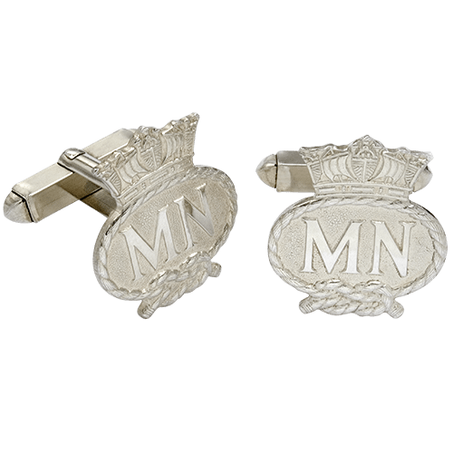 Merchant Navy Silver Cufflinks