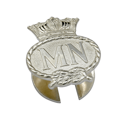 Merchant Navy Silver Lapel Badge