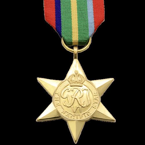 Pazifikstern Weltkrieg 2 Medaille