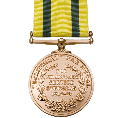 Territorial force War Medal World War 1 Medal Reverse