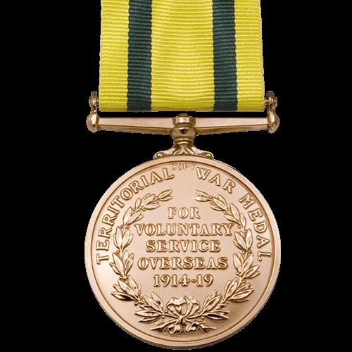 Territorial force War Medal World War 1 Medal Reverse