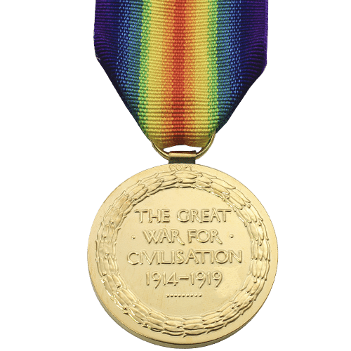 Victory Medal VM World War 1 Medal Reverse