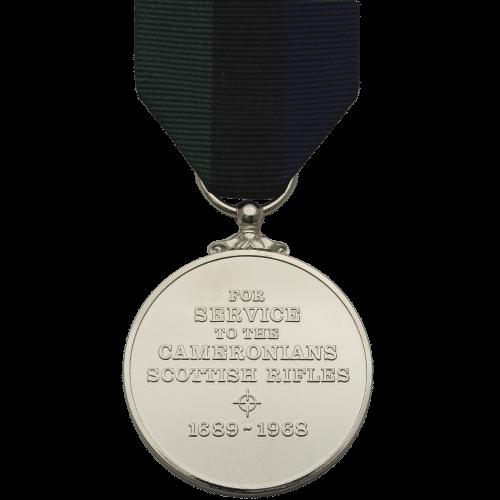 Cameronians (Scottish Rifles) Service Medal Commemorative Reverse