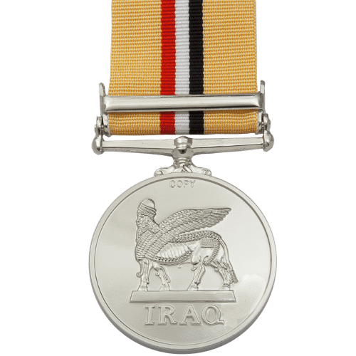 Iraq Medal with Clasp Reverse