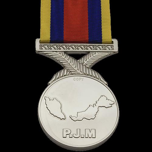 Pingat Jasa Malysia PJM Medal Reverse