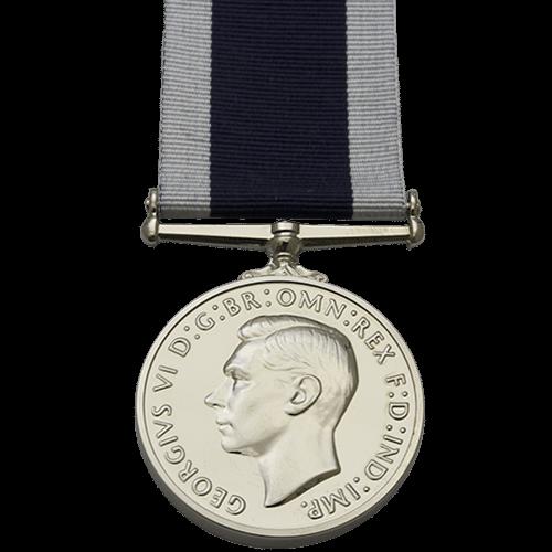 Royal Naval Long Service e buona condotta LSGC medaglia GVI