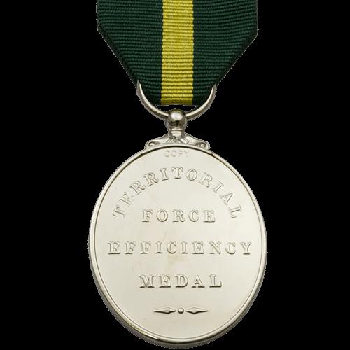 Territorial Force Efficiency Medal Reverse