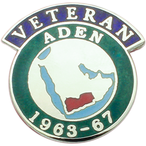 Aden Veterans Badge Enamelled