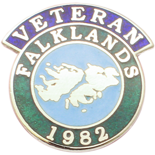 Falklands Veterans Badge Enamelled