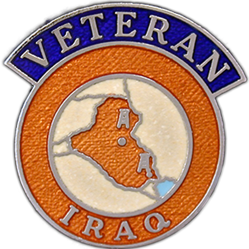 Iraq Veterans Badge Enamelled