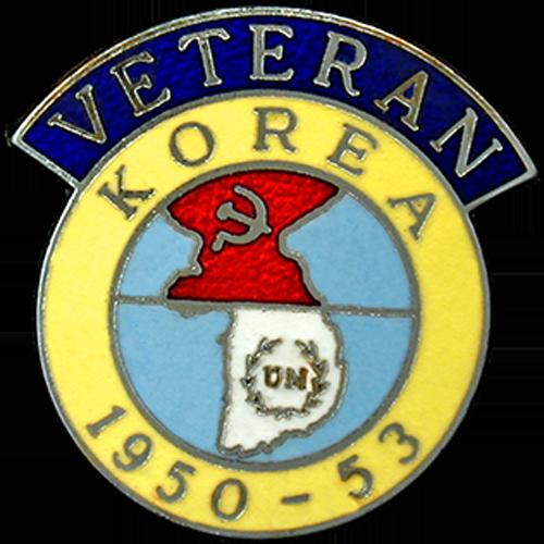 Korea Veterans Badge Enamelled