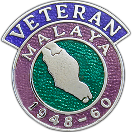 Malaya Veterans Badge Enamelled