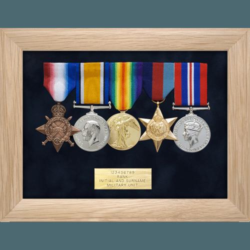 Medal Display Frame Five Medals