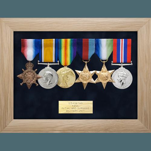 Medalla marco de exhibición seis medallas