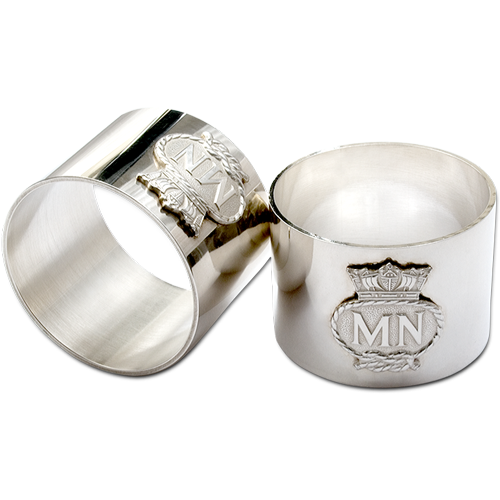Merchant Navy Serviette Rings Silver