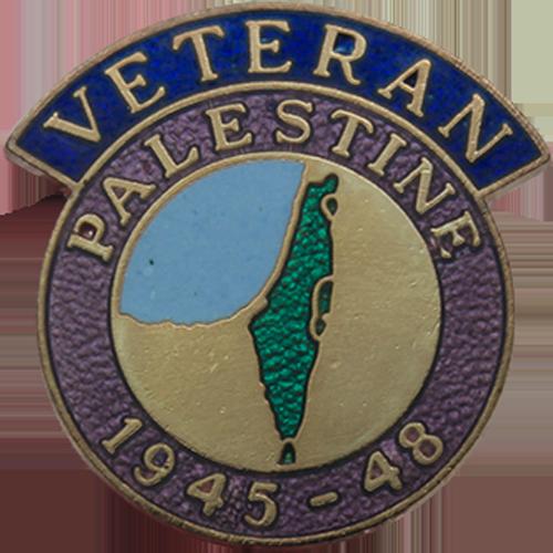 Palestine Veterans Badge Enamelled