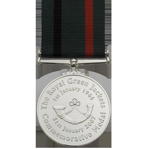 Royal Green Jackets Medal Commemorative Reverse