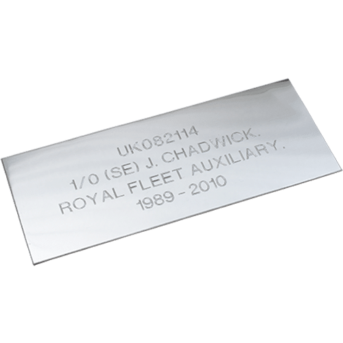 Silver Effect Plaque