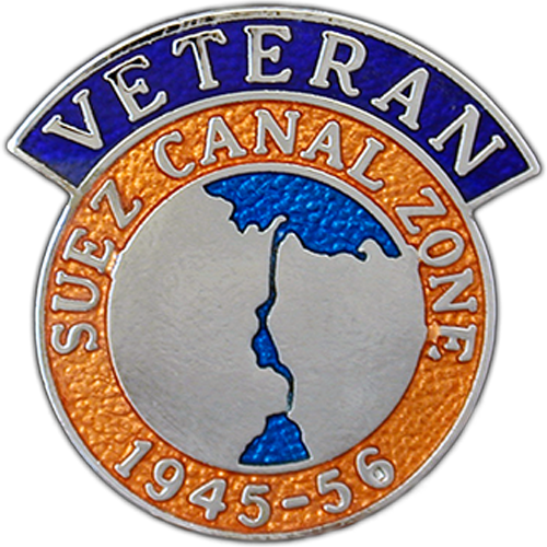 Suez Veterans Badge Enamelled