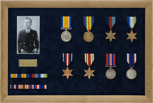 medal display frame slotted ribbons