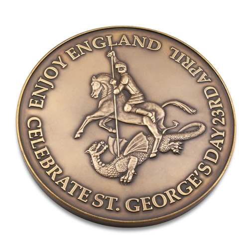 Celebrate St Georges Day Anniversary Medal