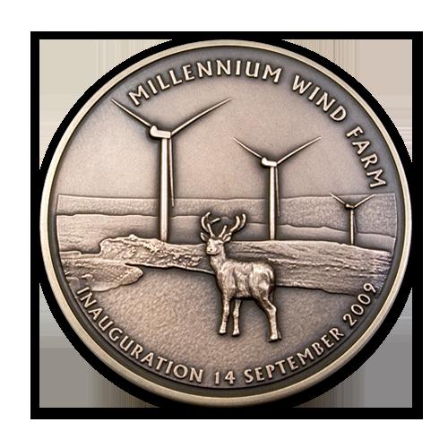 Millennium Wind Farm Medal Front