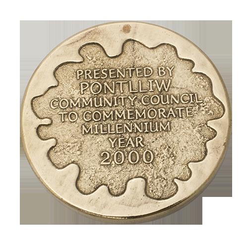 Pontlliw Community Council Millennium Medal Reverse