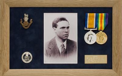 Military Medal Display Frame Case Study-Pilkington