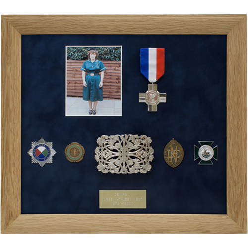 Nurse West bespoke medal frame