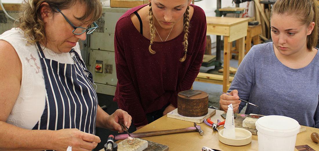 Earring Making Workshop Devon
