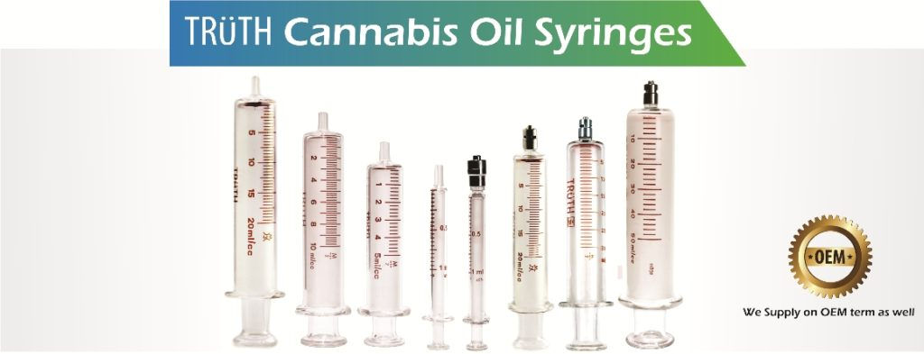 Cannabis oil syringe
