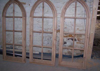 Oak Gothic window frame and sashes, SASPOONER