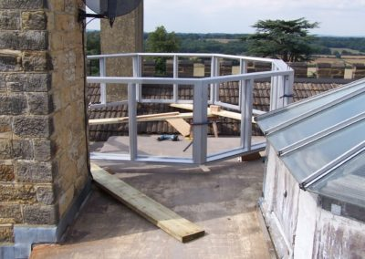 Assembly of roof Lantern on a very much restricted space..SASPOONER