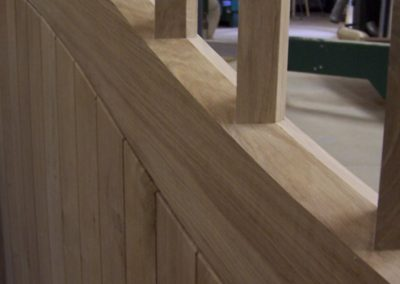A close up of the bevel and diamond upper rails.  SASPOONER