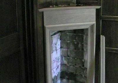 The 'other' little fireplace that was stolen and now replaced with help from us. SASPOONER