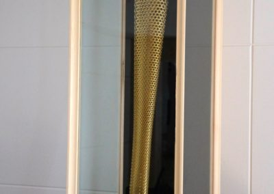Glazed display Cabinet for Olympic torch. SASpooner