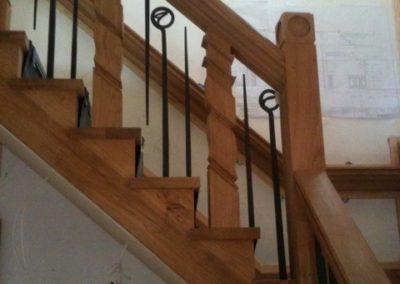 Lutyens Oak Staircase Raking Square Spindles SASPOONER