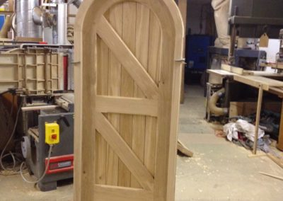 Round top boarded door and frame .SASPOONER