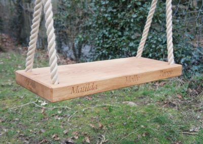 Our large two seater Oak seat with carved names.  SASPOONER