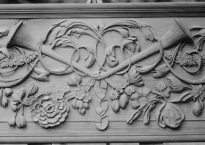 Grinding Gibbons style relief carved panel panel in Limewood .SASPOONER