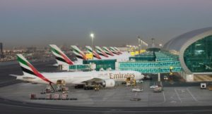 busy dubai airport