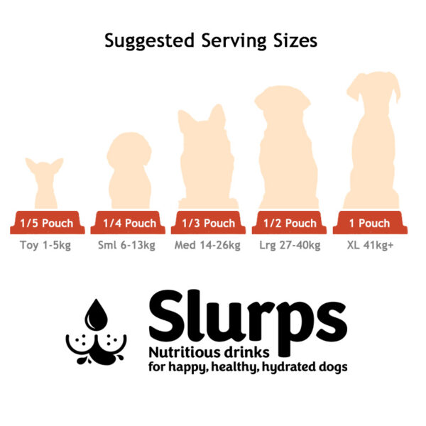 Slurps Dog Drinks Suggested Serving Sizes