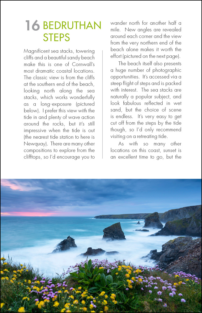 The Photographers Guide to Cornwall - sample page 2
