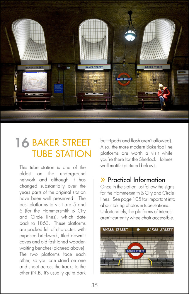 The Photographers Guide to London - Sample Page 2