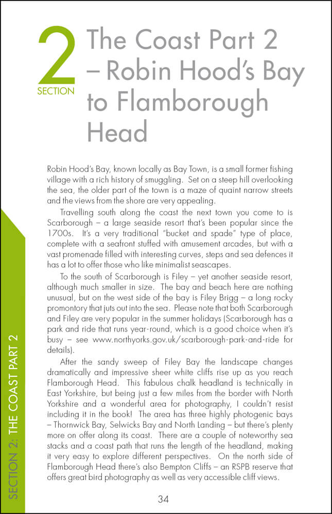 The Photographer's Guide to The North Yorkshire Coast - Sample Page 3